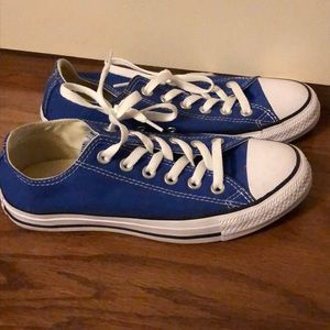 Royal blue Converse - women's size 7